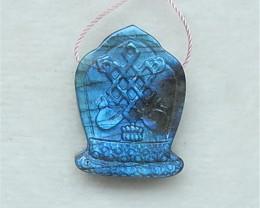 57.5Ct New Design Shining Labradorite Craved Pendant(18052819)
