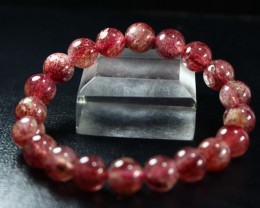 150 CT Natural Cherry Quartz Bracelets Carved Beads Stone Special Shape