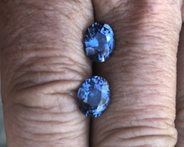 4.85 cts cobalt certified Sri Lankan spinel matching pair.