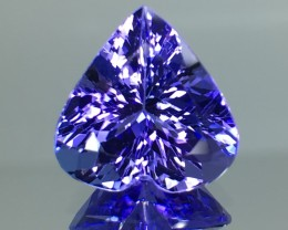 5.56 Cts Tanzanite Faceted Gemstone Awesome Color & Cut