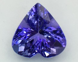 Certified 5.56 Cts Tanzanite Faceted Gemstone Awesome Color & Cut