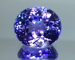 6.33 Cts Tanzanite Faceted Gemstone Awesome Color & Cut