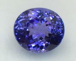 Certified 6.33 Cts Tanzanite Faceted Gemstone Awesome Color & Cut
