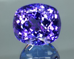 9.14 Cts Tanzanite Faceted Gemstone Awesome Color & Cut
