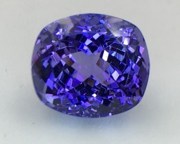 Certified 9.14 Cts Tanzanite Awesome Color & Cut  Faceted Gemstone