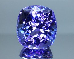 6.40 Cts Tanzanite Faceted Gemstone Awesome Color & Cut