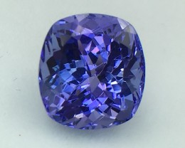 Certified 6.40 Cts Tanzanite Awesome Color & Cut  Faceted Gemstone