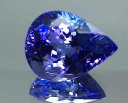 9.51 Cts Tanzanite Faceted Gemstone Awesome Color & Cut