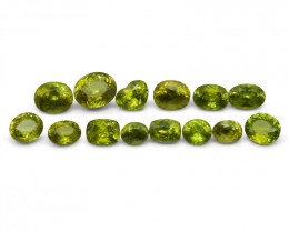 Sphene 20.79 cts 14 stones Wholesale Lot