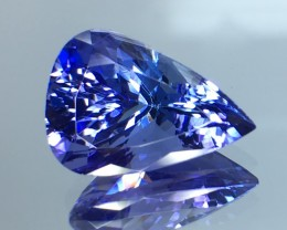 6.48 Cts Tanzanite Faceted Gemstone Awesome Color & Cut