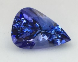 Certified 6.48 Cts Tanzanite  Awesome Color & Cut  Faceted Gemstone