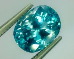 4.25 Crt Natural Zircon Sparkling Luster Faceted Gemstone.(Z 08)