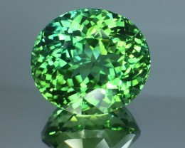 15.69 Cts Untreated Green Tourmaline Awesome Color ~ Afghanistan