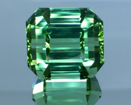 24.22 Cts Untreated Green Tourmaline Awesome Color ~ Afghanistan