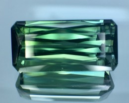 13.70 Cts Untreated Green Tourmaline Awesome Color ~ Afghanistan