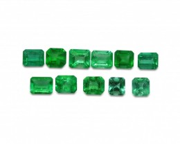 Emerald 6.19 cts 11 st Emerald Cut Wholesale Lot