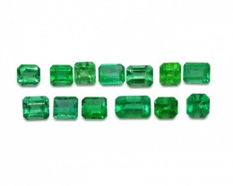 Emerald 6.25 cts 13st Emerald Cut Wholesale Lot