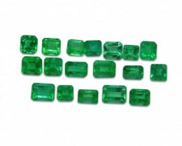 Emerald 4.22 cts 18st Emerald Cut Wholesale Lot