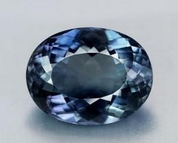 31.13 Carat Flawless Blue Gray, Namibian Apatite