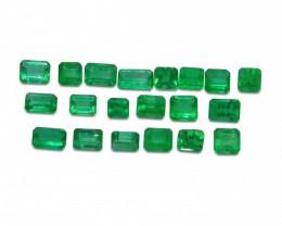 Emerald 7.00 cts 26st Emerald Cut Wholesale Lot