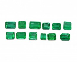 Emerald 4.09 cts 12st Emerald Cut Wholesale Lot