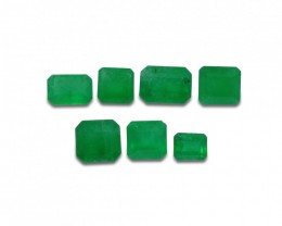 Emerald 2.92 cts 7st Emerald Cut Wholesale Lot
