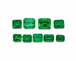 Emerald 3.09 cts 9st Emerald Cut Wholesale Lot