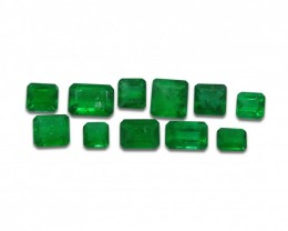 Emerald 4.73 cts 11st Emerald Cut Wholesale Lot