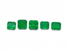 Emerald 2.87 cts 5st Emerald Cut Wholesale Lot