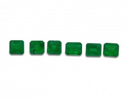 Emerald 4.16 cts 6st Emerald Cut Wholesale Lot