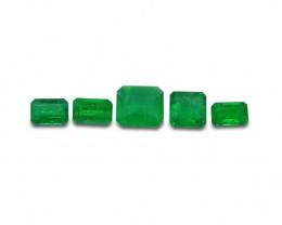 Emerald 1.98 cts 5st Emerald Cut Wholesale Lot
