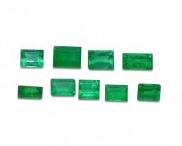 Emerald 2.46 cts 9st Emerald Cut Wholesale Lot