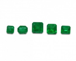 Emerald 2.29 cts 5st Emerald Cut Wholesale Lot