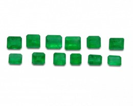 Emerald 5.06 cts 12st Emerald Cut Wholesale Lot