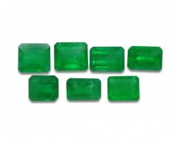 Emerald 4.43 cts 7st Emerald Cut WHOLESALE LOT