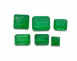 Emerald 2.82 cts 6st Emerald Cut WHOLESALE LOT