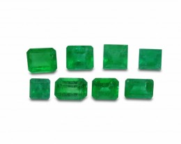 Emerald 2.44 cts 8st Emerald Cut WHOLESALE LOT