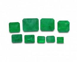 Emerald 4.75 cts 9st Emerald Cut WHOLESALE LOT