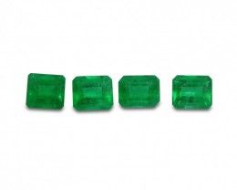 Emerald 1.69 cts 4st Emerald Cut WHOLESALE LOT