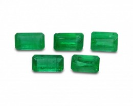 Emerald 2.3 cts 5st Emerald Cut WHOLESALE LOT