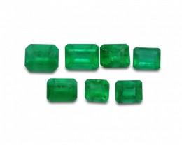 Emerald 3.52 cts 7st Emerald Cut WHOLESALE LOT