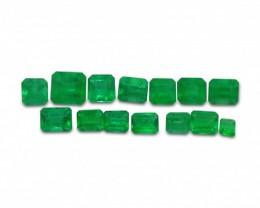 Emerald 4.42 cts 14st Emerald Cut WHOLESALE LOT