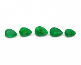 Emerald 1.91 cts 5st Pear WHOLESALE LOT