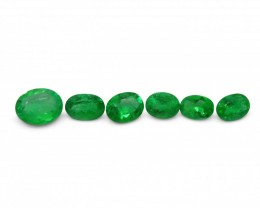 Emerald 2.5 cts 6st Oval WHOLESALE LOT