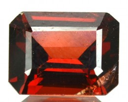 3.16 Cts Natural Pinkish Red Garnet Octagon Cut African Gem