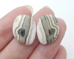 11ct New Arrival Natural Ocean Jasper Cabochon Pair(18053011)
