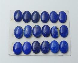 93ct 18Pcs Specialoffer Natural Lapis Lazuli Cabochon (18053021)