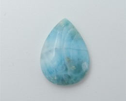 23ct On sale Natural Water drop Larimar Cabochon (18053025)
