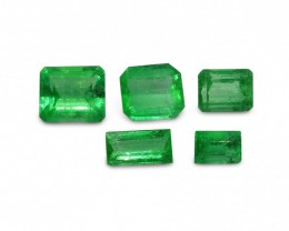 Emerald 3.05 cts 5st Emerald/Baguette Cut WHOLESALE LOT