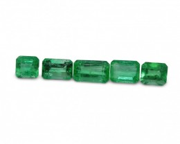 Emerald 3.38 cts 5st Emerald Cut WHOLESALE LOT